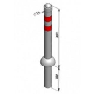 Столбик стальной парковочный  SPBG1 (неоцинкованный)